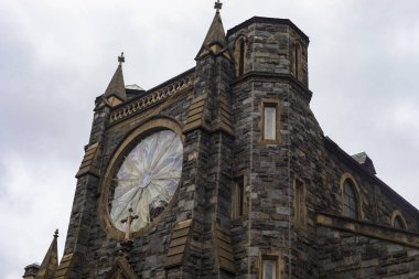 Washington DC, USA - October 12, 2017: Beautiful architecture of St Patrick Catholic Church in Washington DC, USA.