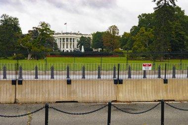 Washington DC, USA - October 12, 2017: View of the iconic landmark White House, residence of the United States President, in the city of Washington DC, USA.