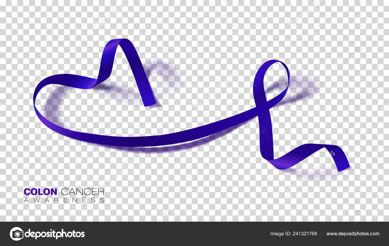 Colon Cancer Awareness Month Dark Blue Color Ribbon Isolated Transparent Stock Vector C Irkus Life Gmail Com 241321768