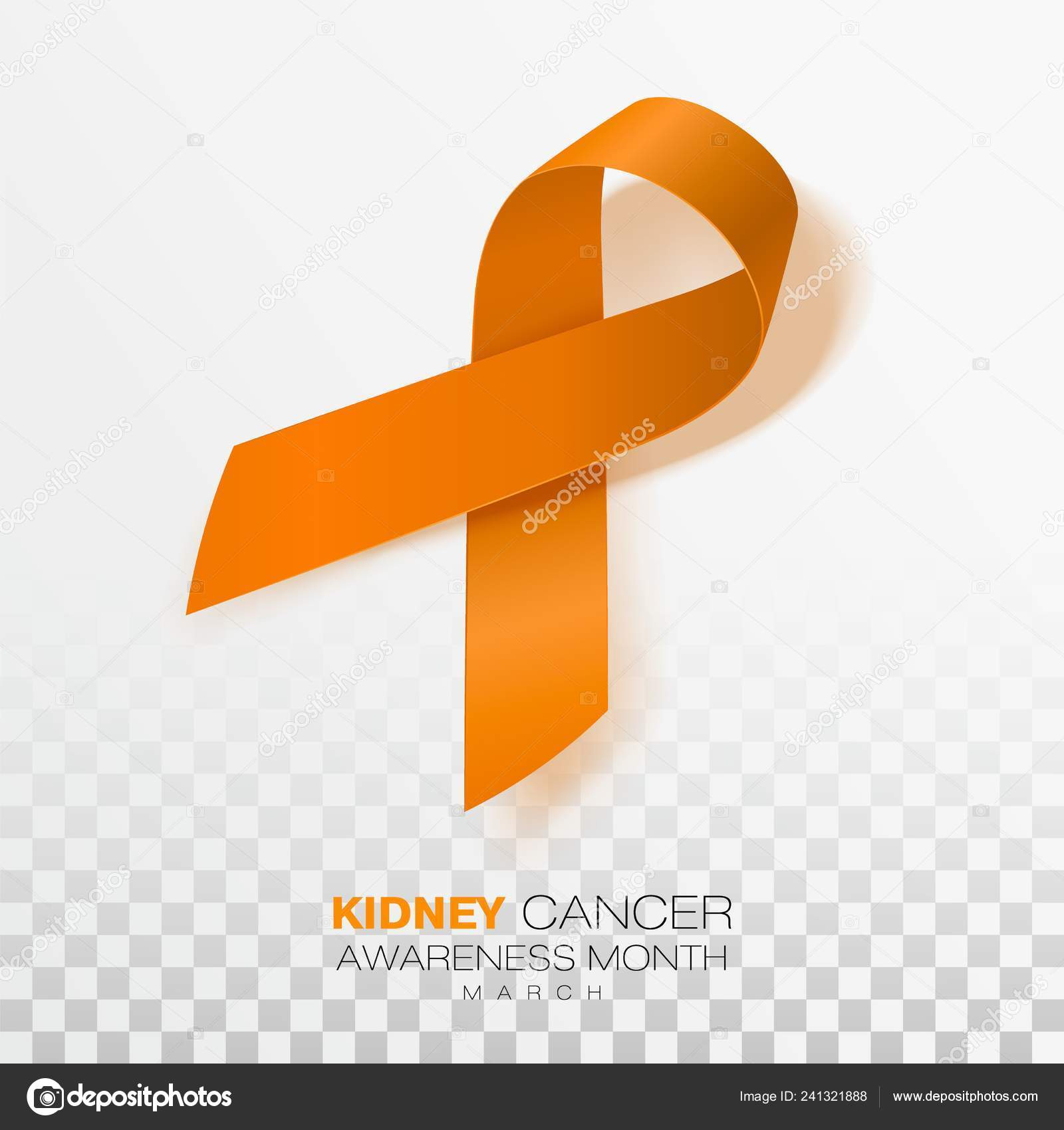 National Kidney Cancer Awareness Month Orange Color Ribbon Isolated Transparent Stock Vector C Irkus Life Gmail Com 241321888