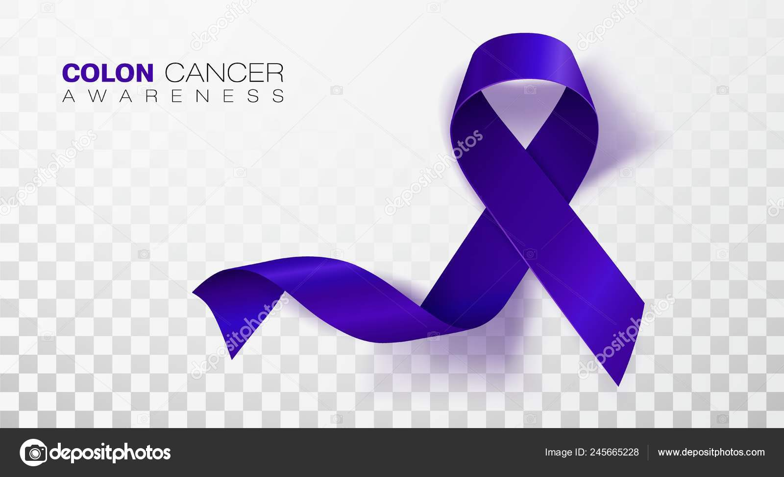 Colon Cancer Awareness Month Dark Blue Color Ribbon Isolated On Transparent Background Colorectal Cancer Vector Design Template For Poster Stock Vector C Irkus Life Gmail Com 245665228