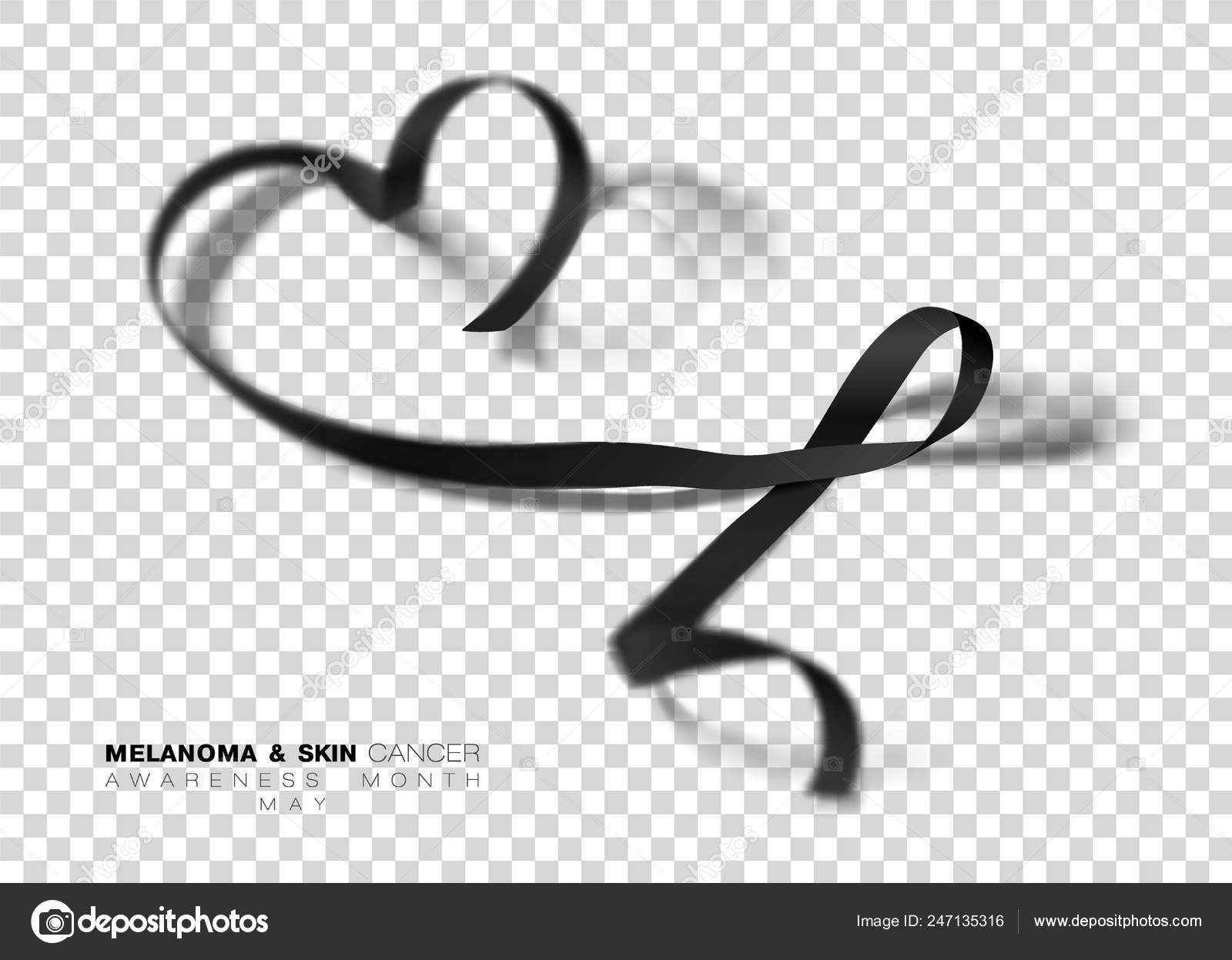 Melanoma And Skin Cancer Awareness Month Black Color Ribbon Isolated On Transparent Background Vector Design Template For Poster Stock Vector C Irkus Life Gmail Com 247135316