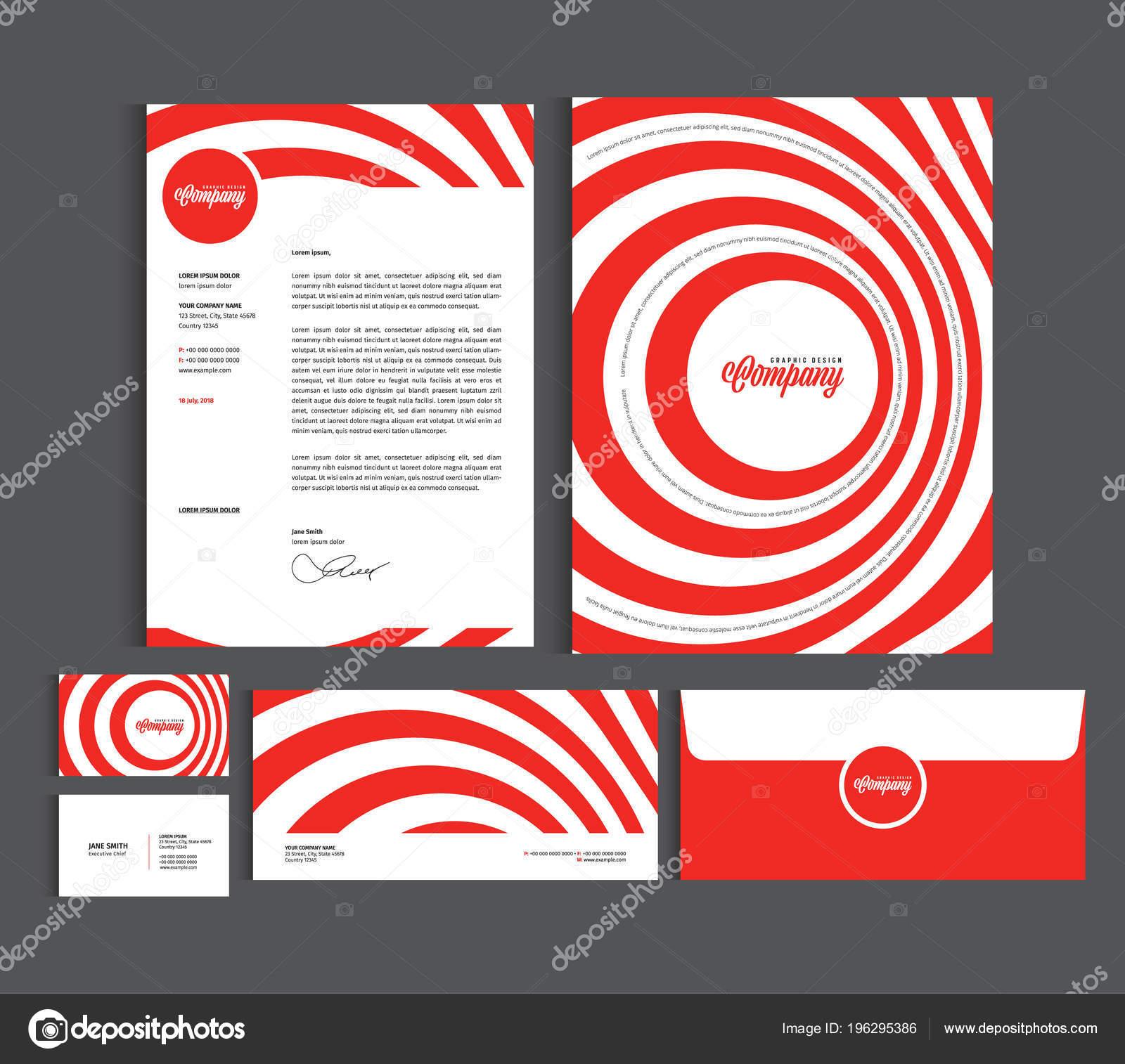 Unternehmens Identität Design Vorlagen Schreibset Briefkopf Vorlage