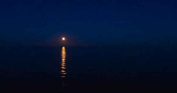 Seascape moon movement before complete darkness horizon in evening, relax mood and inspiration