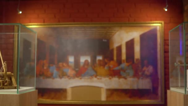 Leonardo da Vinci work the Last Supper reproduction a monumental painting depicting the scene of the last meal of Christ with his disciples