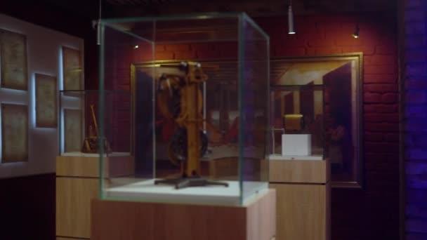 Leonardo Da Vinci Exhibition Hall dedicated to his art and science clockwork invention and Mona Lisa
