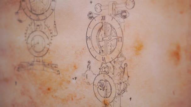 Watch by the project Leonardo Da Vinci clockwork sketch invention of the Renaissance epoch