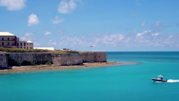 Kings Wharf, Bermuda Ireland Island - APR 22, 2019: Dock Yard and National Museum of Bermuda