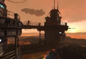 3D obrázek futuristické základny na cizí planetě