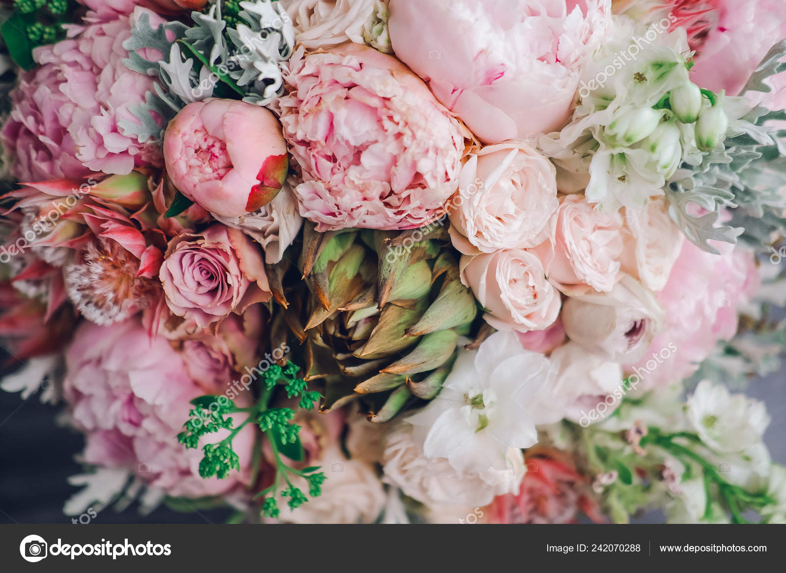 Big Beautiful Wedding Bouquet Spring Flowers Wooden Background Peonies Roses Stock Photo Image By C Dashagrebenchuk Gmail Com 242070288