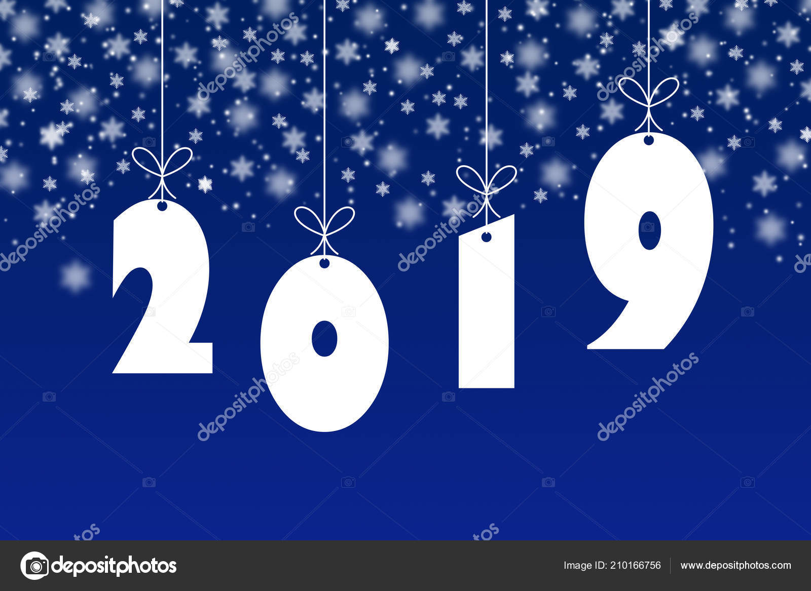 template congratulations new 2019 year 2019 white numbers blue