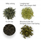 Set of tea textures