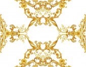 Golden baroque decorative composition