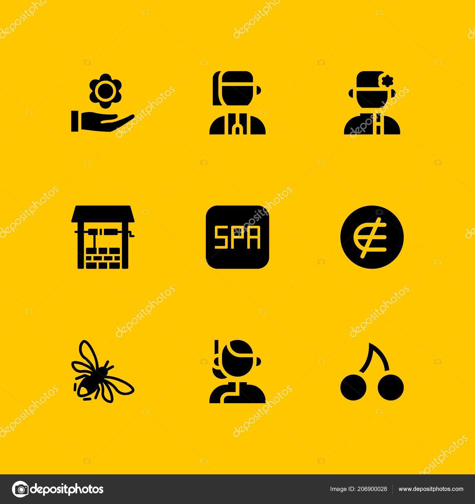 Flower Icon Set Ukrainian Element Flower Vector Icon Graphic Design