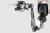 Robotkar 3D-s illusztráció, a háttér elszigetelt