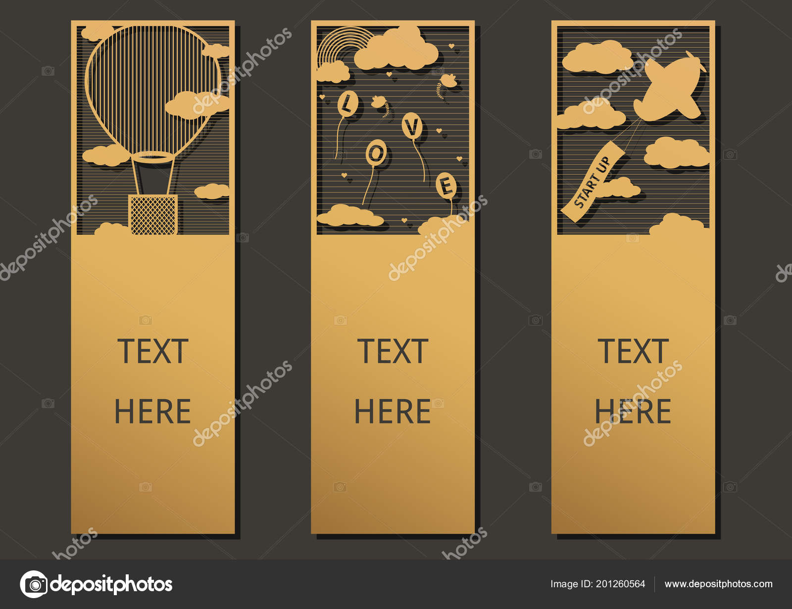Laser cut balloon set ornate cards template greeting card wedding laser cut with balloon set of ornate cards template for greeting card wedding invitation gift card thanks tag small card bookmark and label with m4hsunfo