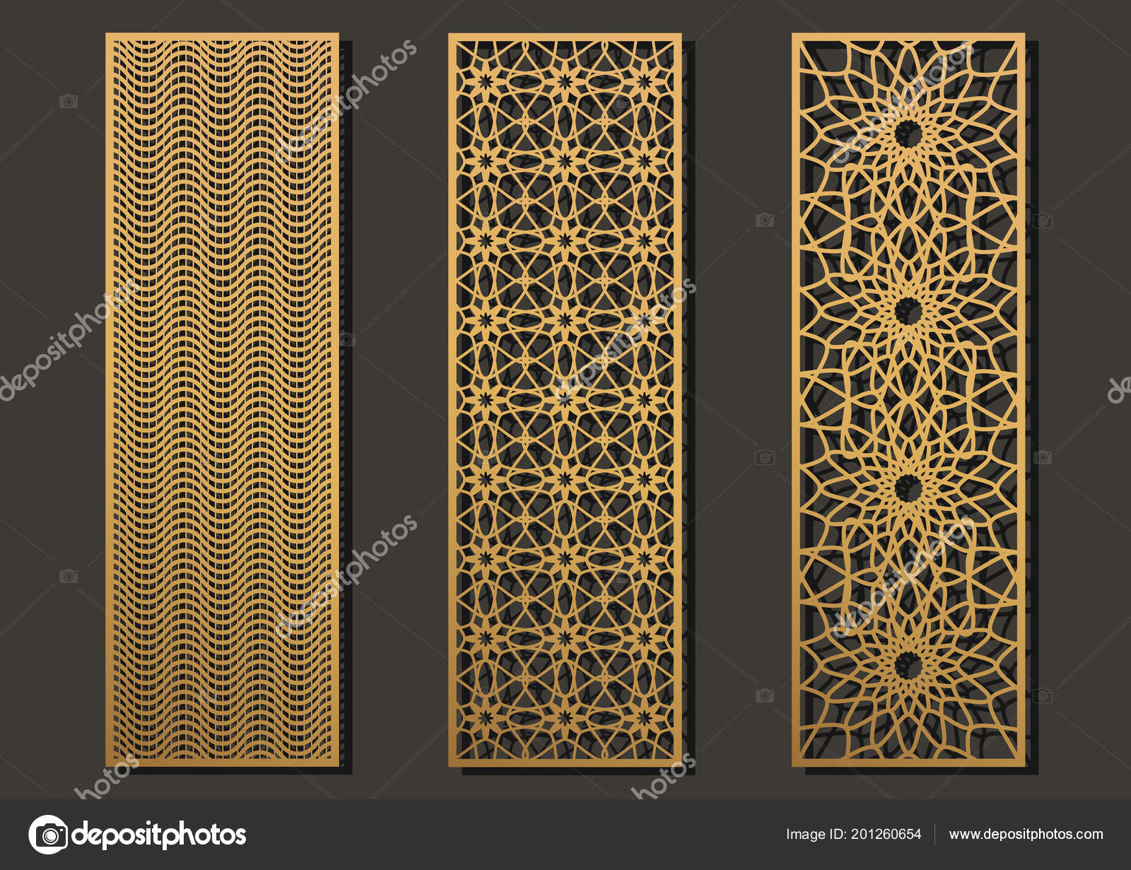 laser cut template panels set die cut geometric pattern rectangle