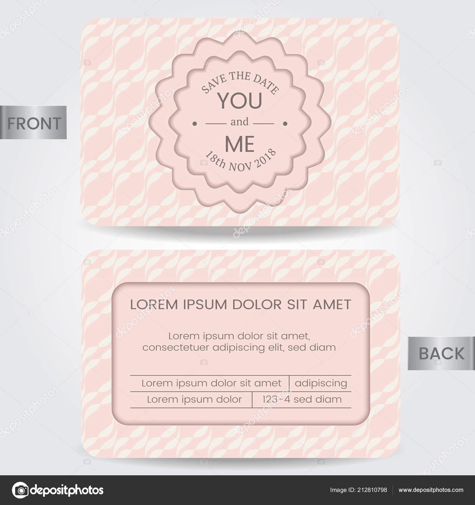 Carte Invitation Mariage Modèle Pour Enregistrer Date Carte