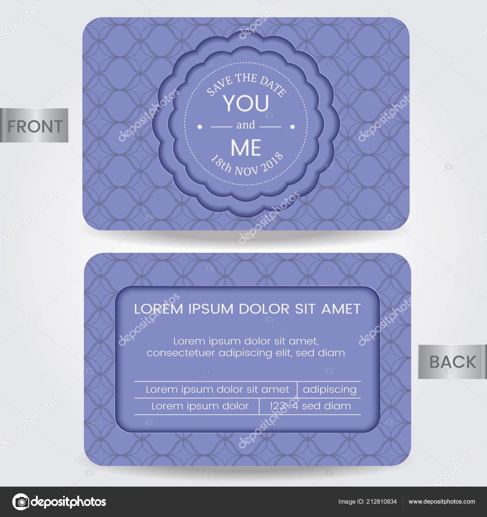 Hochzeit Einladungskarte Oder Vorlage Für Speichern Datum