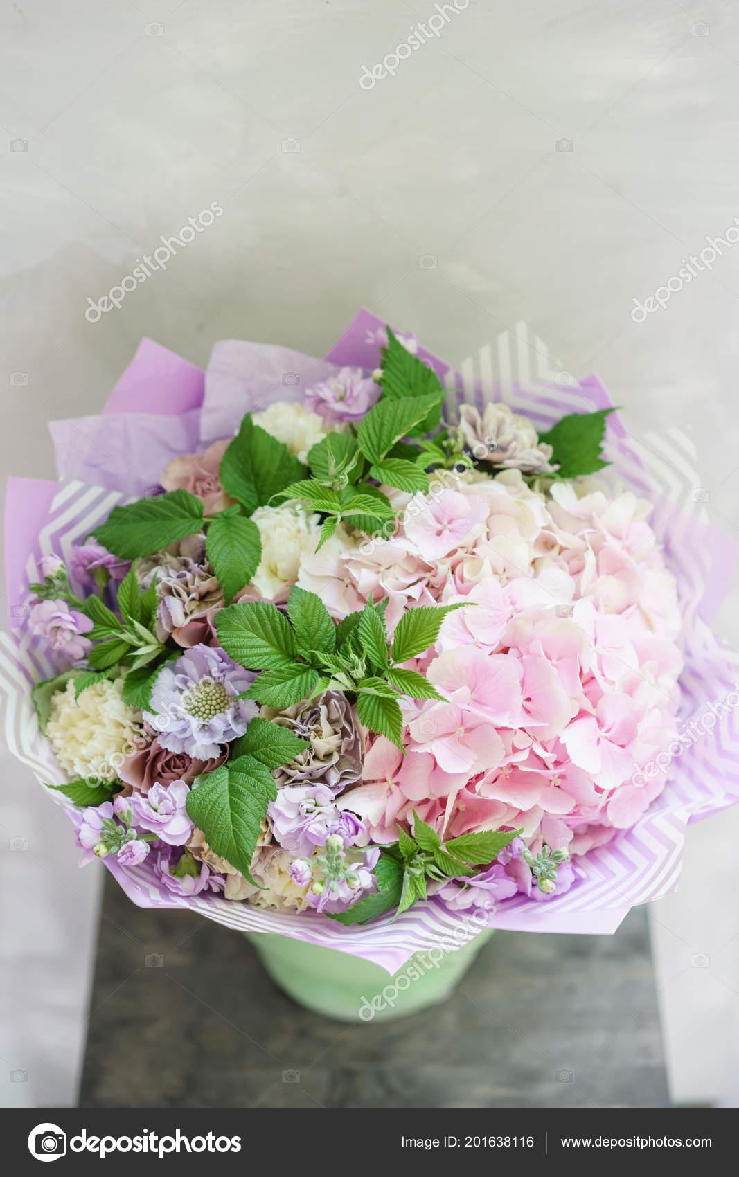 Work Florist Beautiful Spring Bouquet Arrangement With Mix Flowers