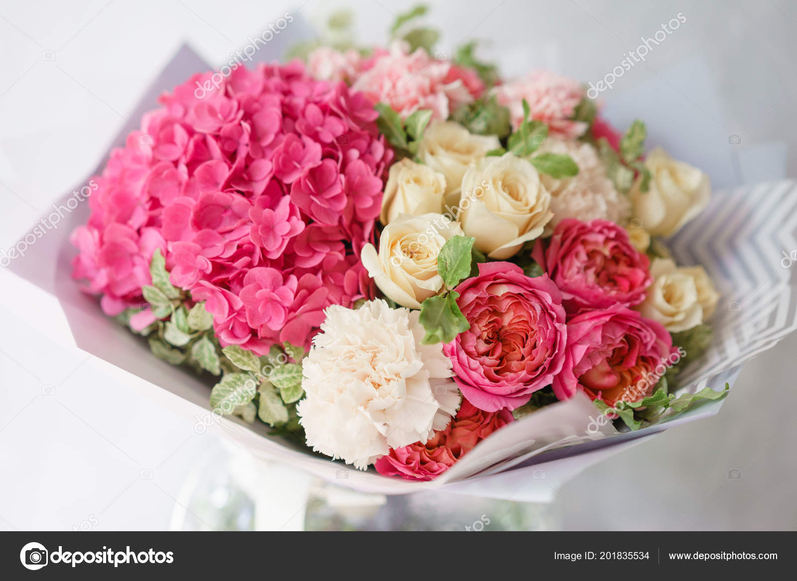 Beautiful Spring Bouquet Flower Arrangement With Hydrangea And