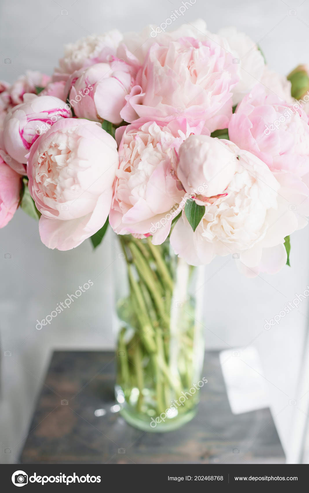 Floristry concept bouquet of beautiful flowers on gray table bouquet of beautiful flowers on gray table spring colors the work izmirmasajfo