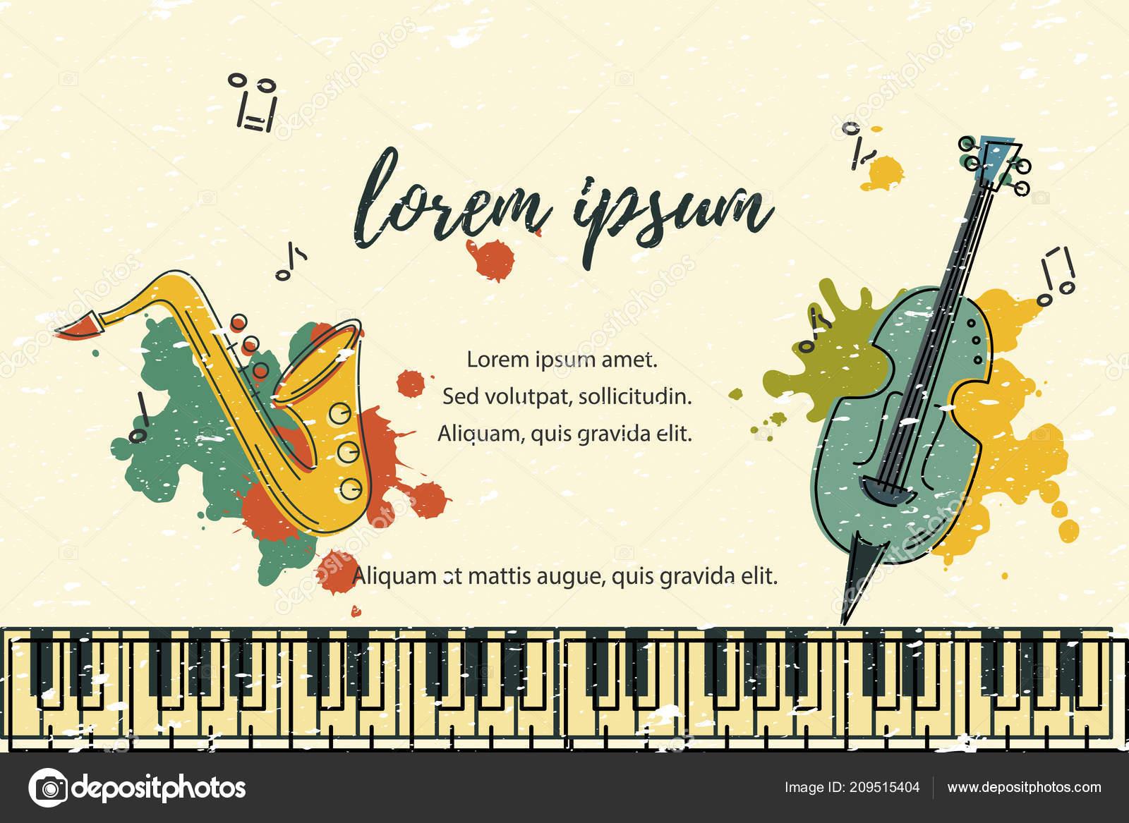 Plantilla Para Festival Música Jazz Partido Invitación