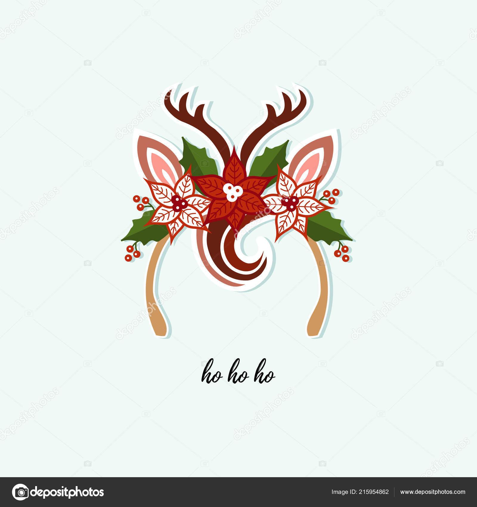 db880fffc Jelena čelenka s třásněmi, parohy, květ. Vektorové ilustrace. Vánoční  čelenka pro vánoční večírek, pozvánka, narozeniny, pozdravy, baby shop,  tričko design ...