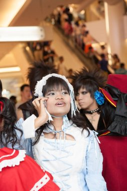 BANGKOK, THAILAND - 30 AUGUST 2008: Young Thais participate in a cosplay festival in front of Siam Pagagon, Bangkok