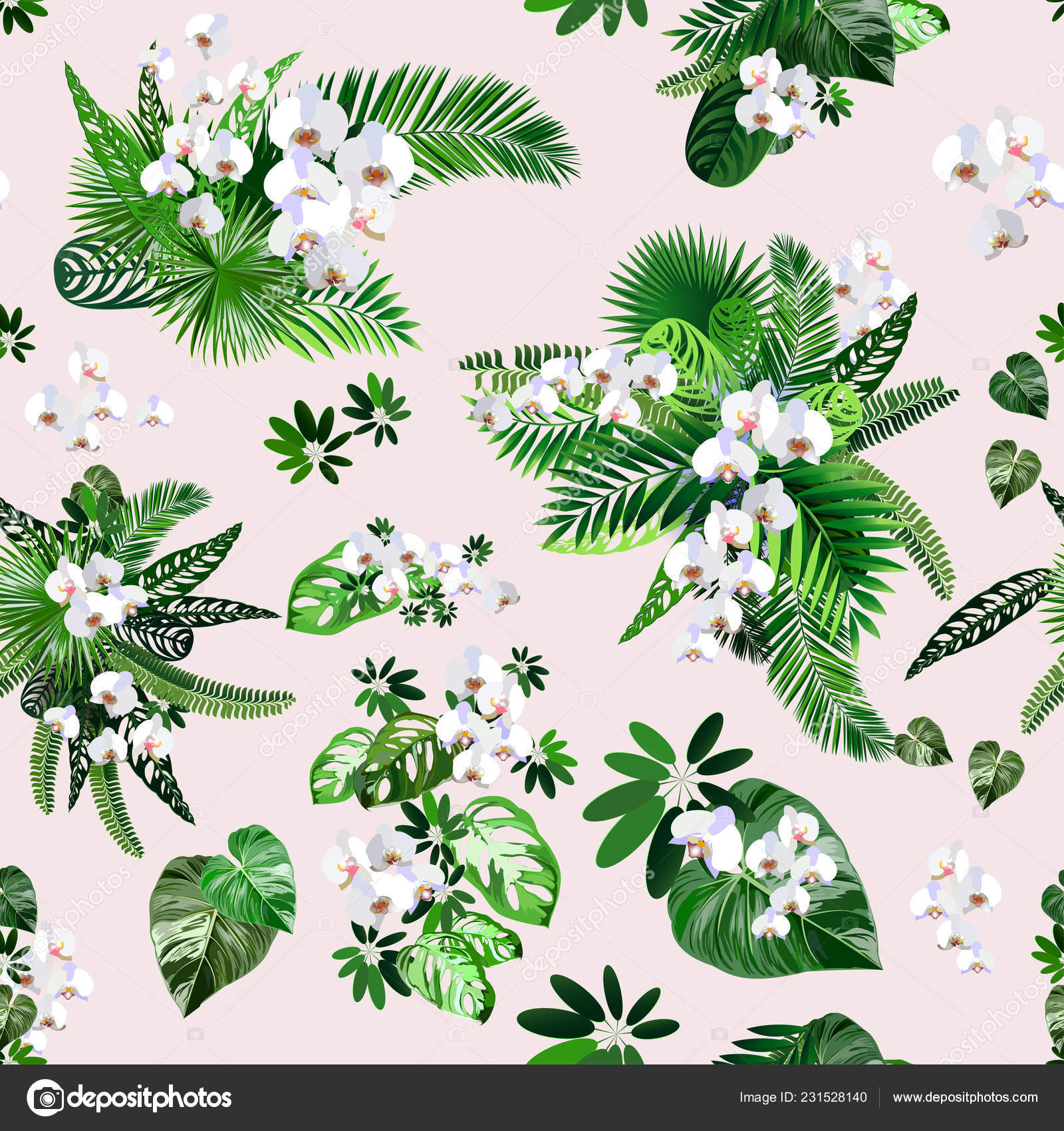 Beautiful Seamless Vector Floral Pattern Spring Summer Background