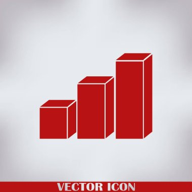 Graph Icon in trendy flat style. Vector illustration, EPS10.