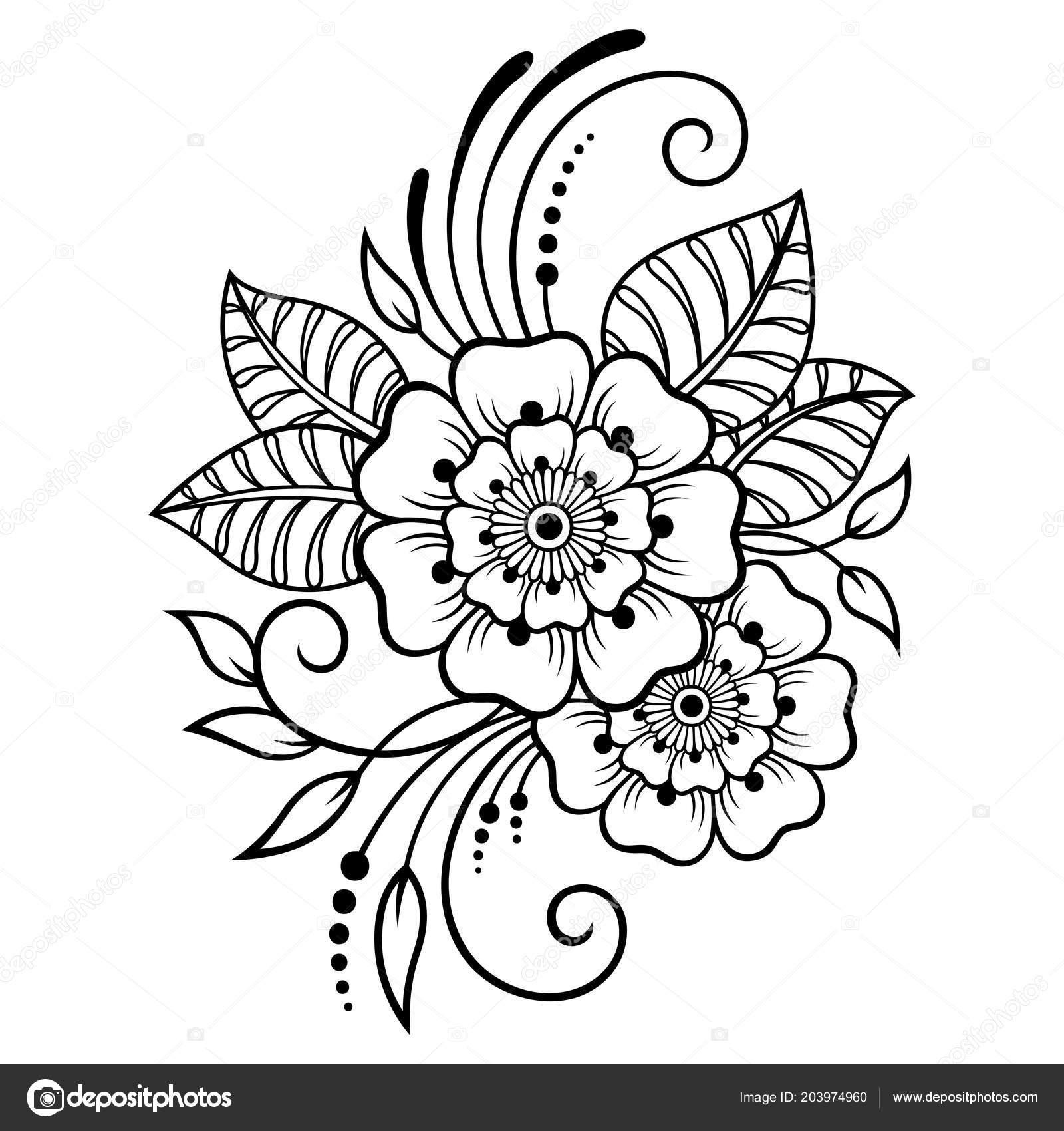 Хна рисунки цветы