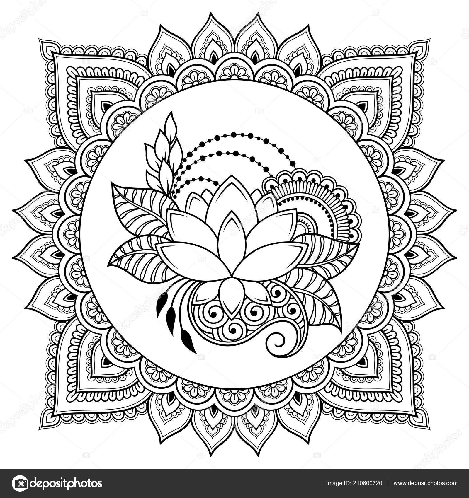 Circular pattern form mandala lotus flower henna mehndi tattoo circular pattern form mandala lotus flower henna mehndi tattoo decoration stock vector mightylinksfo