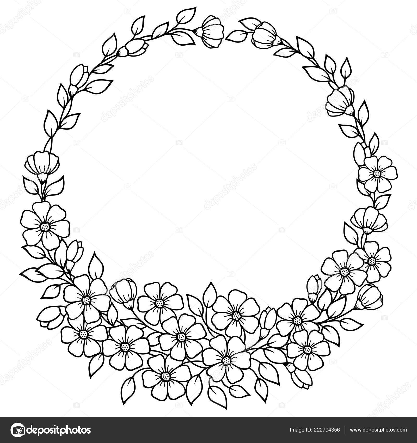 Coloriage Cadre Fleur.Cercles Fleurs Forme Mandala Pour Tatouage Henne Mehndi Decoration