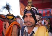Kumbhpeople helyi emberek Kumbh Melá fesztiválon, a világ legnagyobb vallási gyűjtése, Maglód, Uttar Pradesh, India. Mela fesztivál közelében Allahabad, India