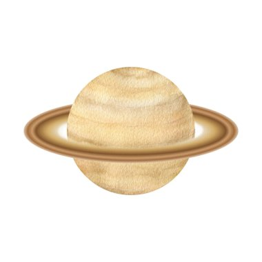 Watercolor astronomy science planets Saturn
