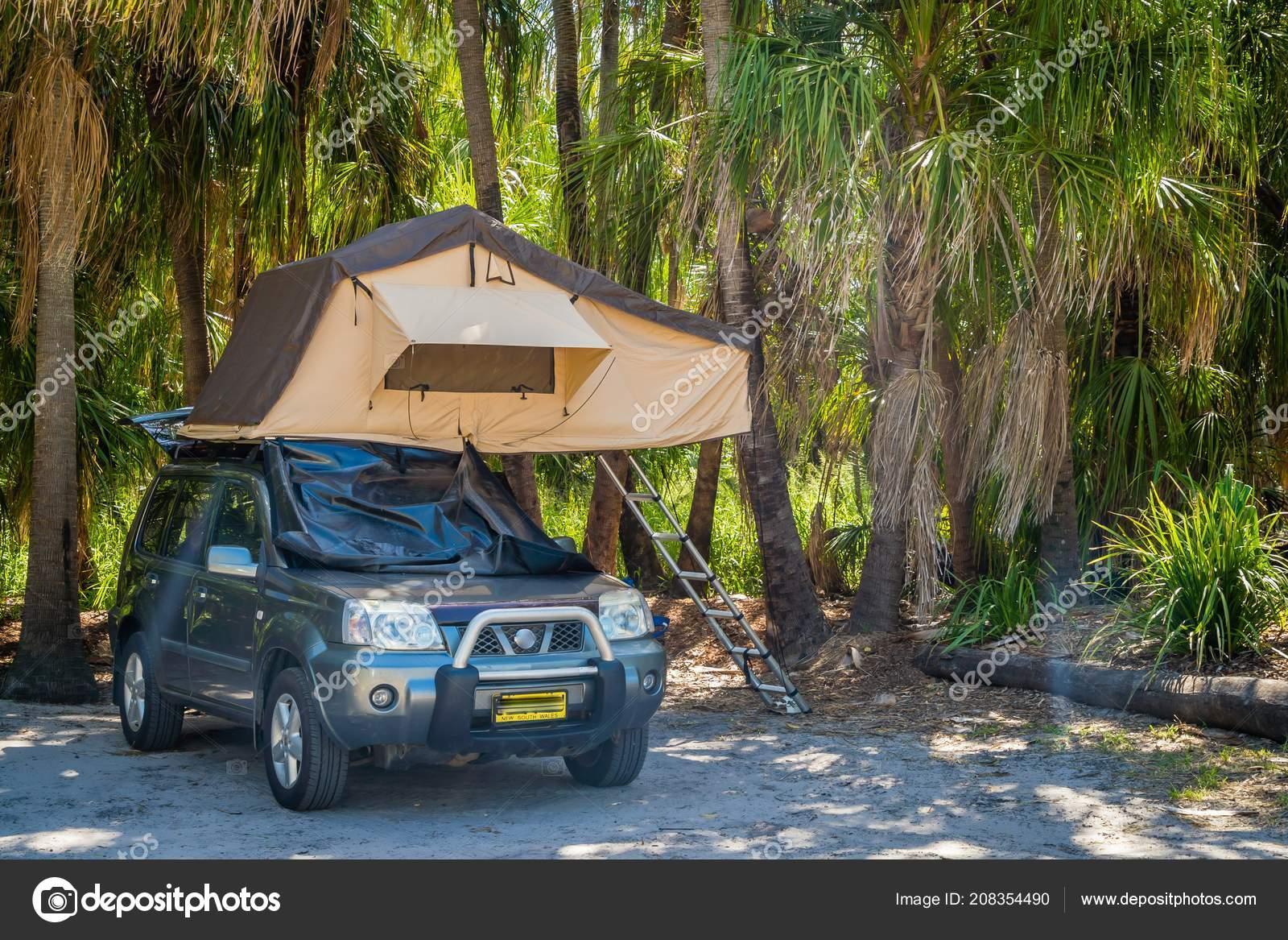 Tent Suv Car Camp Site Australia Stock Editorial Photo C Bignoub 208354490