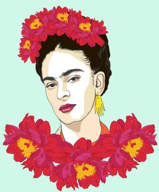 Magdalena Carmen Frida Kahlo born 6 July 1907  13 July 1954, was a Mexican artist who painted many portraits, self-portraits. She was married to Diego Rivera, also a well-known painter