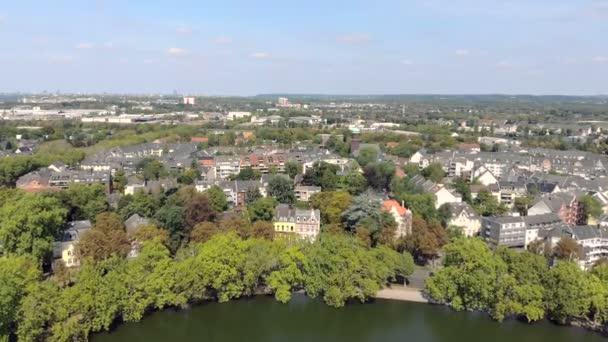 deutschland düsseldorf benrath schloßteich drohnensicht