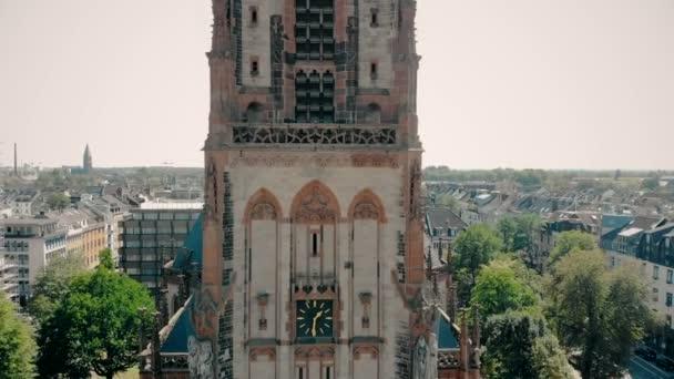 Luftaufnahme. deutschland düsseldorf kirche st. peter. Düsseldorf-Panorama