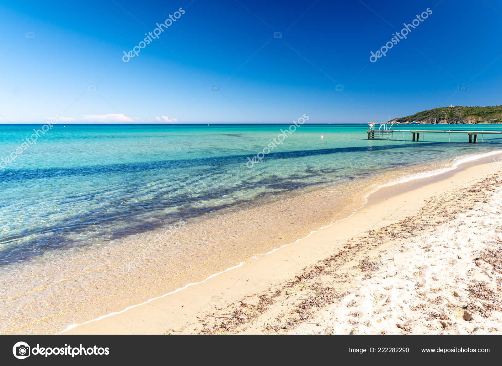 Beautiful View Pampelonne Beach Saint Tropez French Riviera France