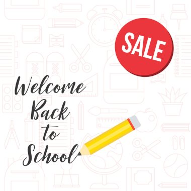 vector illustration of back to school background