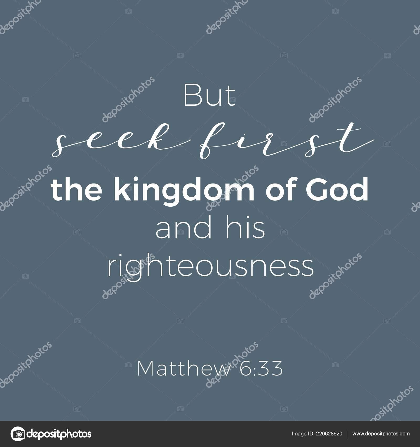 Frase Bíblica Del Evangelio Mateo Pero Buscad Primero Reino