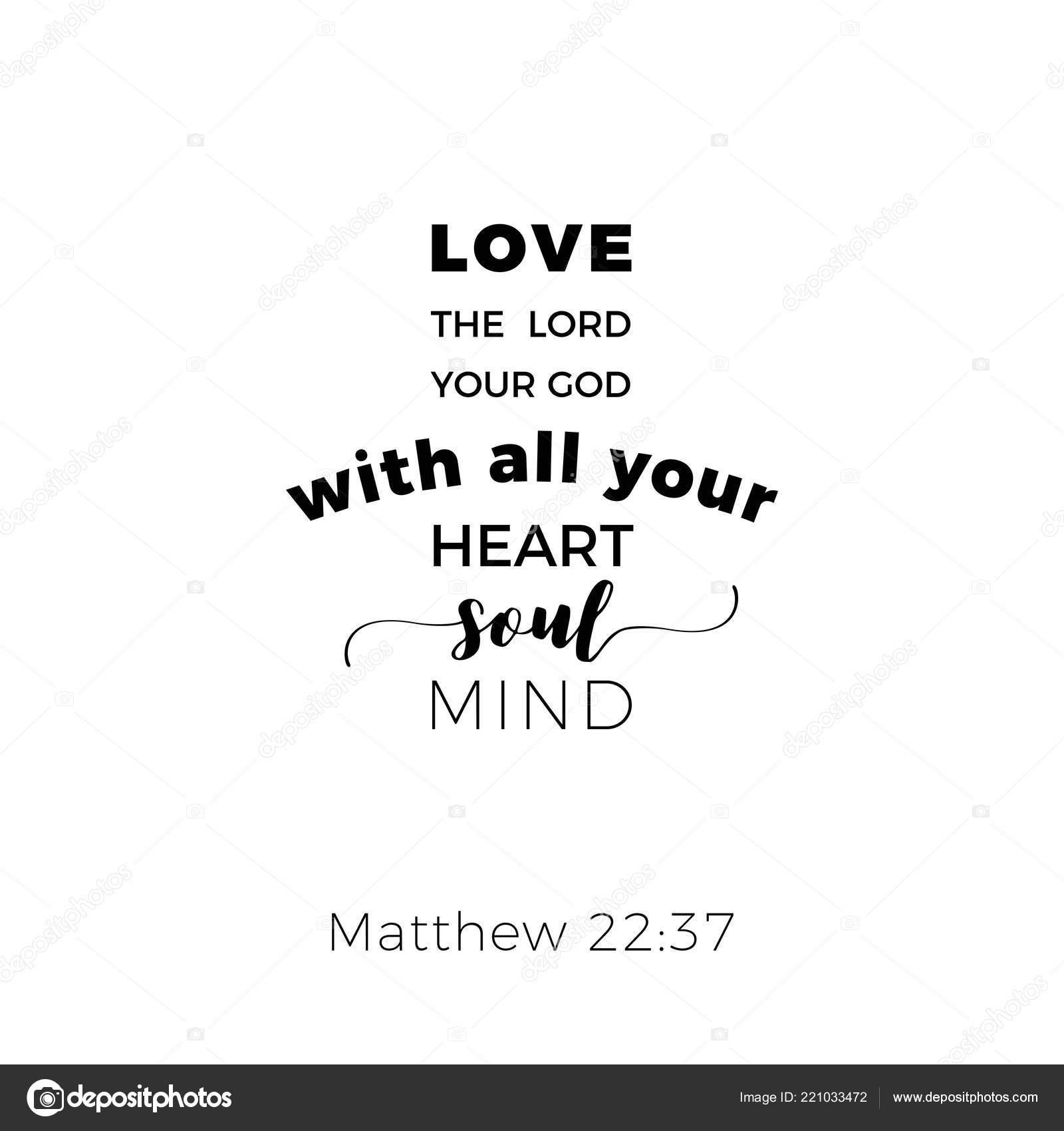 Frase Bíblica Mateo Evangelio Amarás Señor Dios Diseño