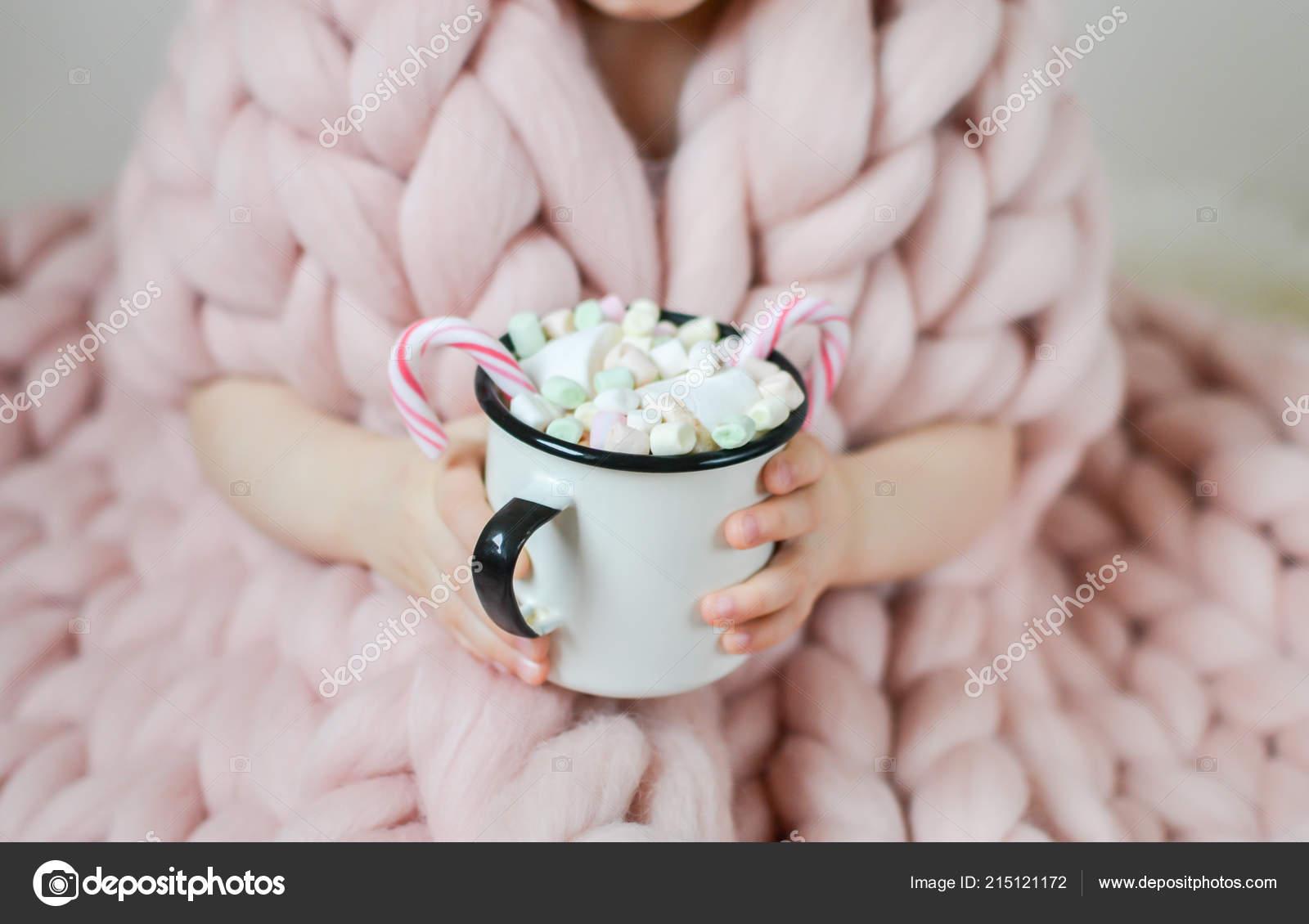 Little Beautiful Caucasian Girl Holding Cup Hot Chocolate Waiting Christmas Stock Photo C Milenie Inbox Lv 215121172