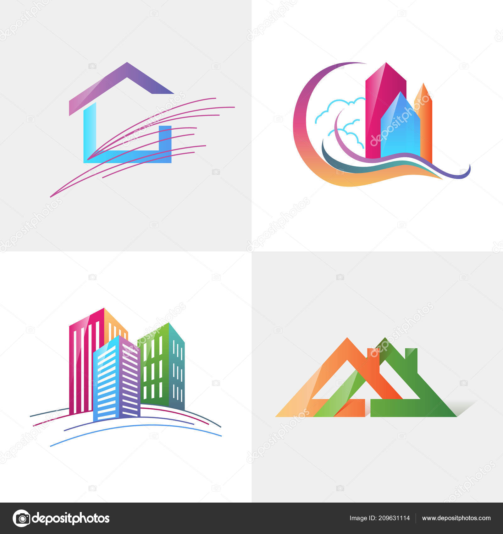 Logo Modele Immobilier Appartement Condo Maison Location