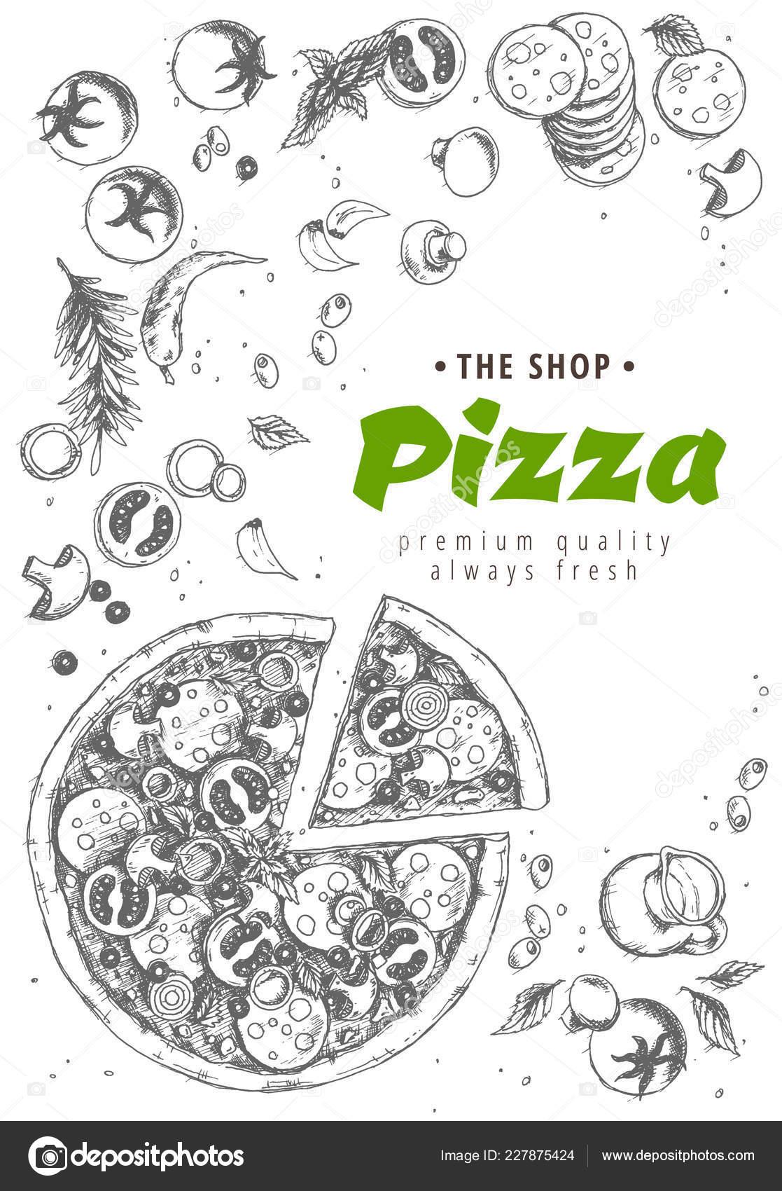 Italian pizza top view frame. A set of classic Italian dishes. Italian food 719c8b08b5a