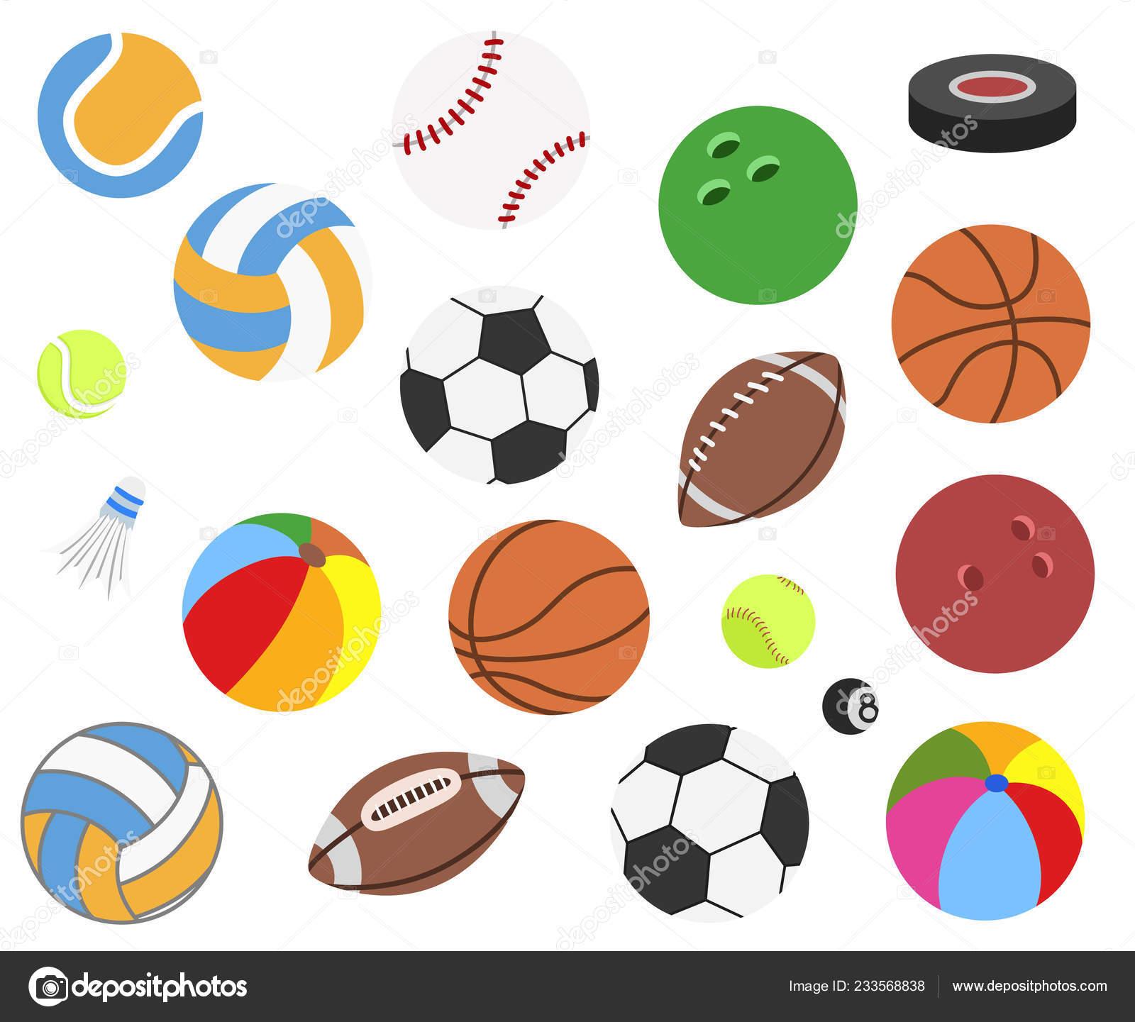 Conjunto de bolas de esporte realista de vetor para futebol e9e88e81b27ae
