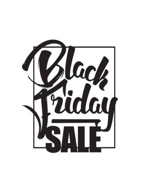 Vector illustration: Hand drawn brush composition lettering of Black Friday Sale isolated on white background