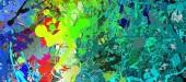 Fotografie Abstraktní barevné pruhy. Digitální design malířství impresionismu kresby. Ručně nakreslený umělecký vzor. Moderní umění. Dobré pro tištěné obrázky, pohlednice, plakáty nebo tapety a textilní tisk